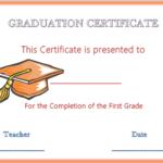 Grade 6 Graduation Certificate Templates