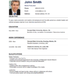 How to Construct a Cv Templates
