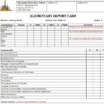 Report Card Templates Elementary School