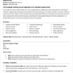 Resume Templates First Job Student