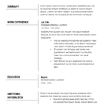 Resume Templates I Can Download for Free