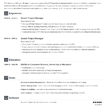 Resume Templates Job