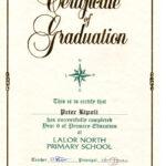 Year 6 Graduation Certificate Template