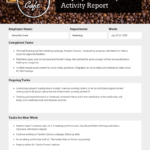 6 Awesome Weekly Status Report Templates