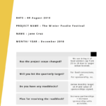 6 Month Report Template