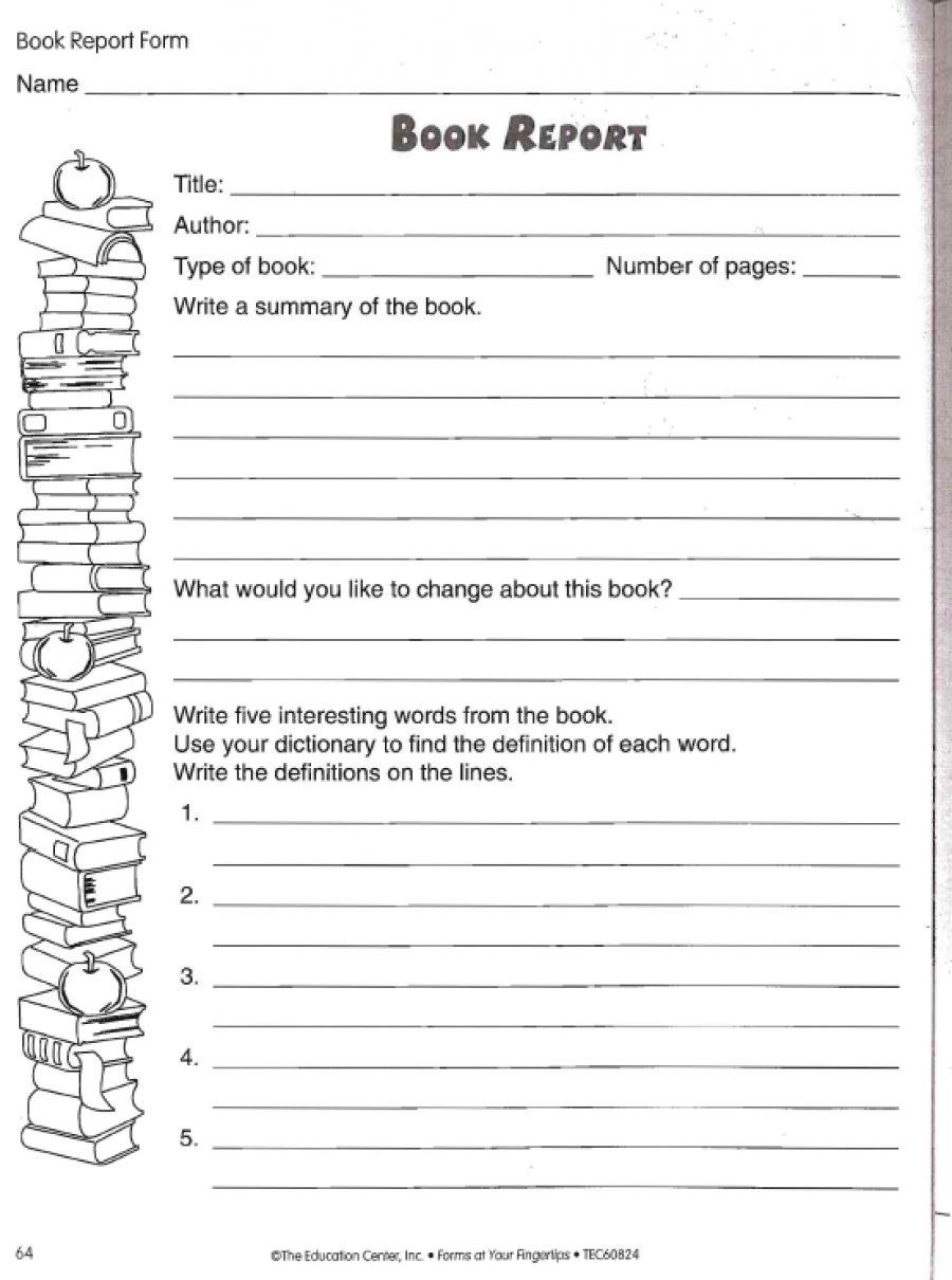 Biography Book Report Template 6th Grade