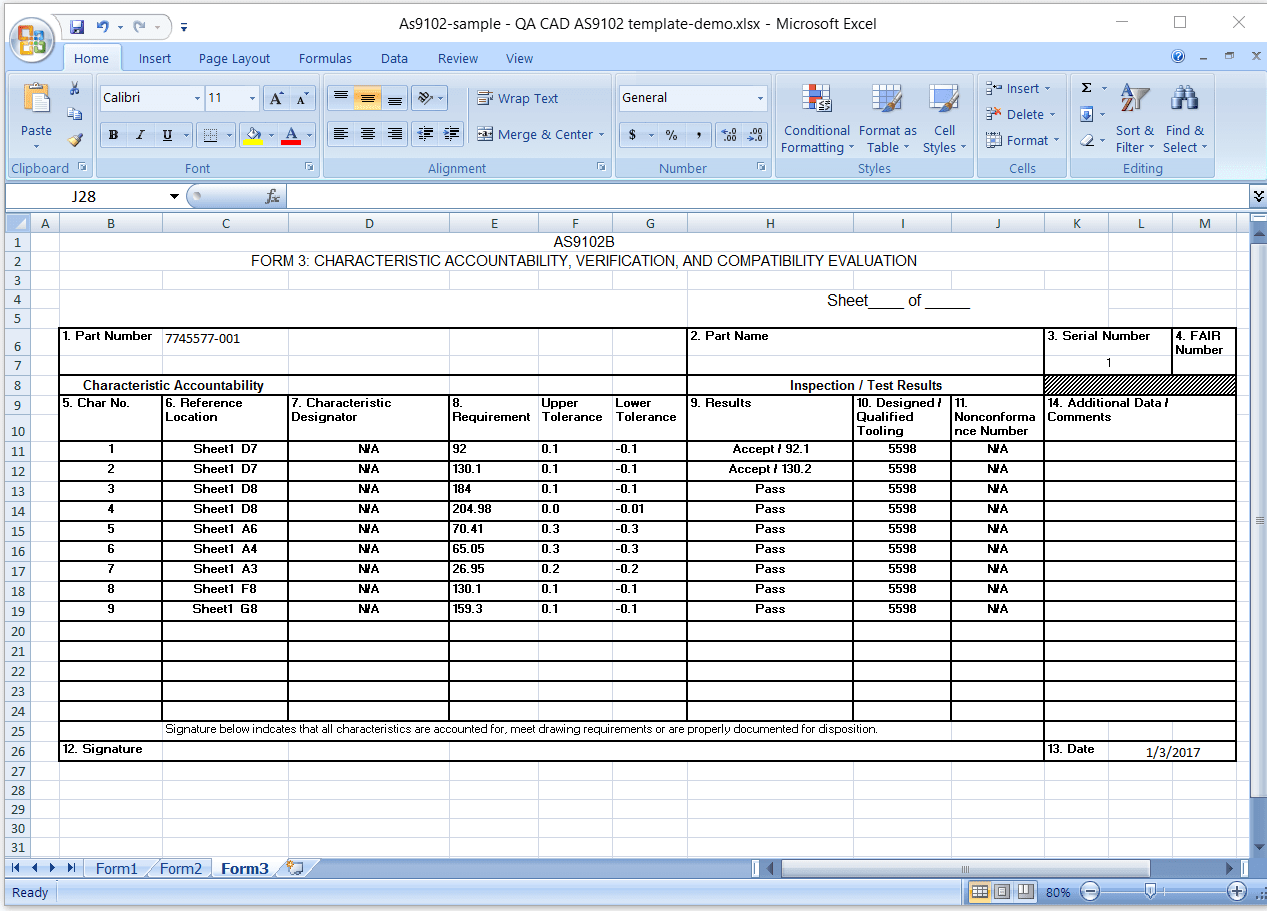 Inspection Report Template Xls