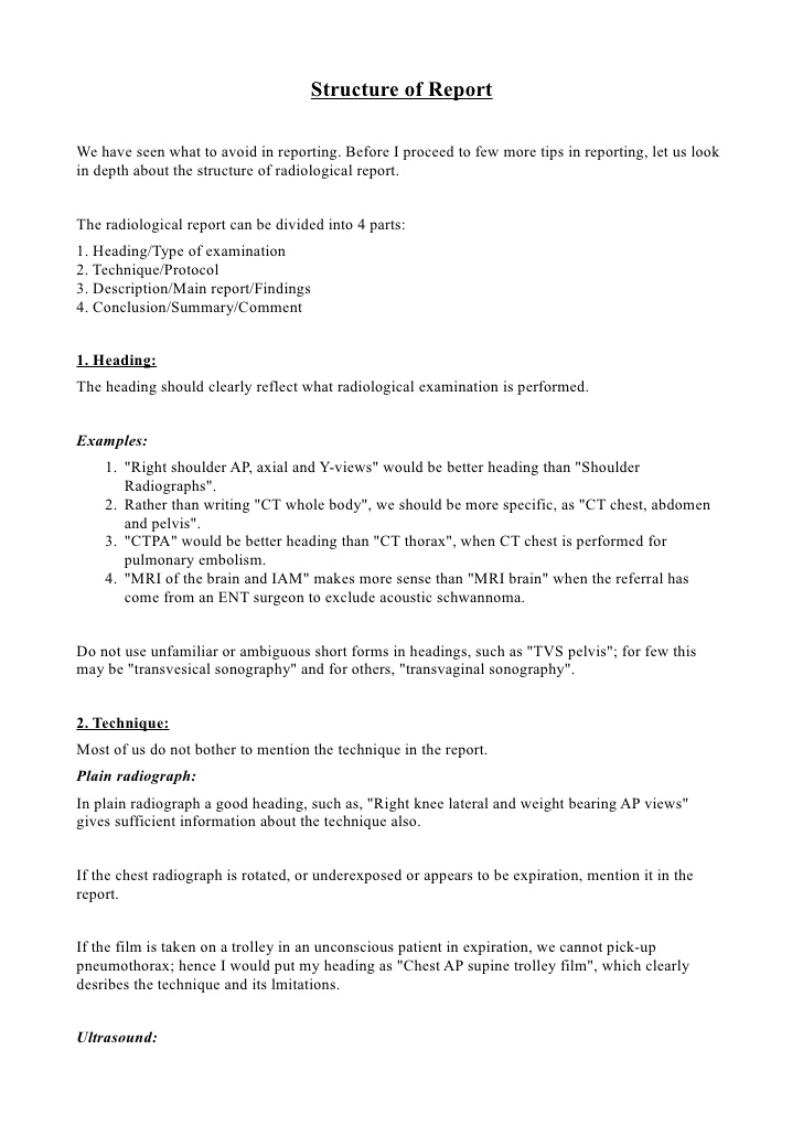 Knee X Ray Report Template