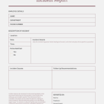Report Template Sample In Word