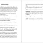 Report Template Word Doc