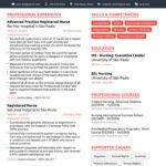 Resume Templates Nursing