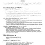 Resume Templates Nursing Students