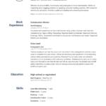 Resume Templates Online Free