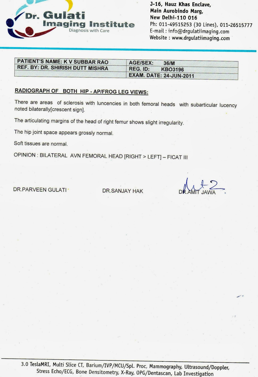X Ray Report Template