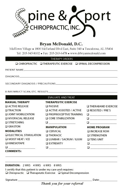 X Ray Report Template Chiropractic
