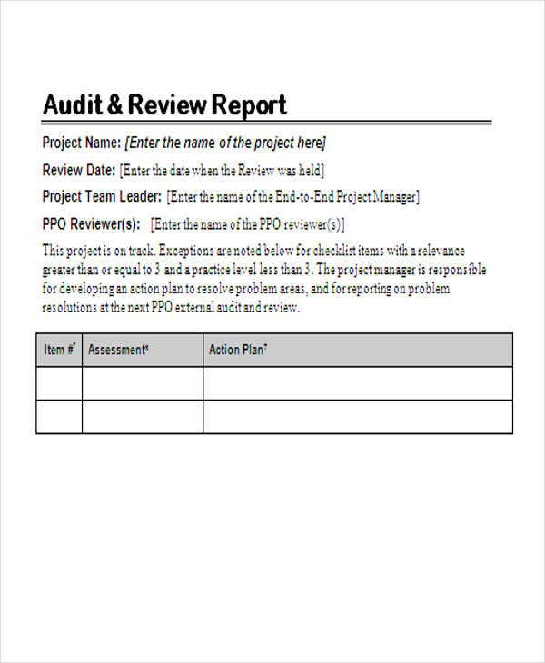 Report Review Template