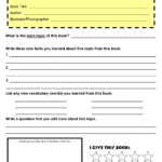Book Report Template 4th Grade Pdf