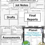 Planet Report Template 3rd Grade