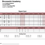 Grade 9 Report Card Template