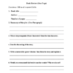 Book Report Template Junior High