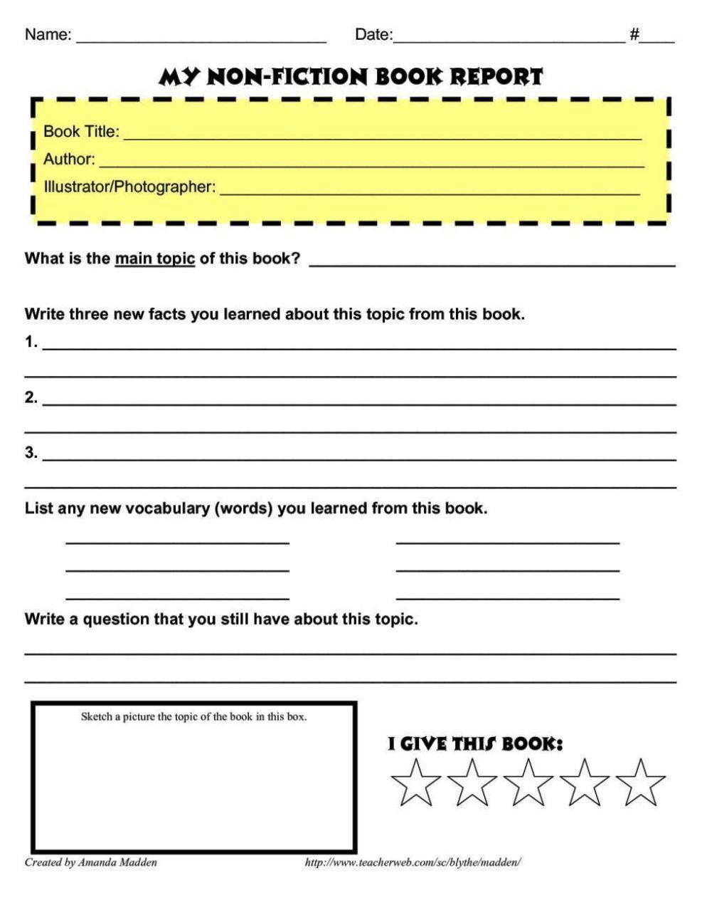 Report Template Sample