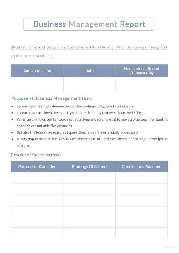 Easy Report Template Examples